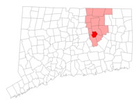 Andover Connecticut map