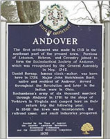 Andover Connecticut Town Sign
