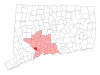 Ansonia CT map