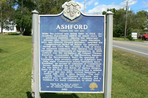 Ashford Connecticut Historical Marker
