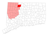 Barkhamsted Connecticut map