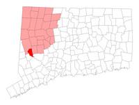 Bridgewater Connecticut map