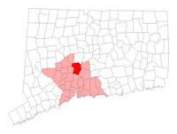 Cheshire CT map