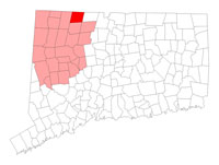 Colebrook Connecticut map