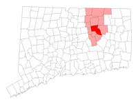 Coventry Connecticut map