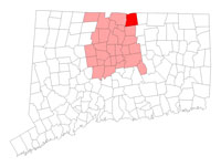Enfield CT map