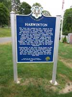 Harwinton Connecticut Town Sign