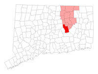 Hebron Connecticut map