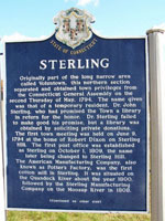 Sterling Connecticut historic marker