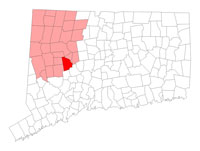 Watertown Connecticut map