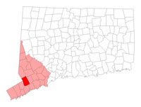 Wilton Connecticut map