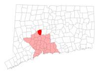 Wolcott CT map