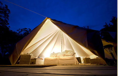 pop up hotel tent