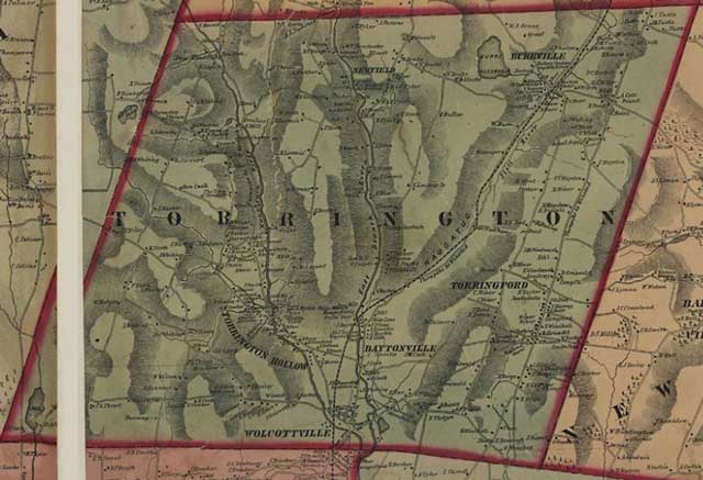Torrington Map 1851