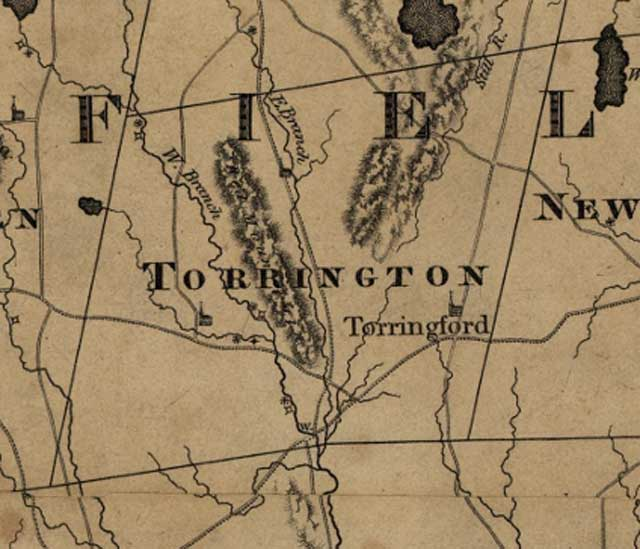 Torrington Map 1812
