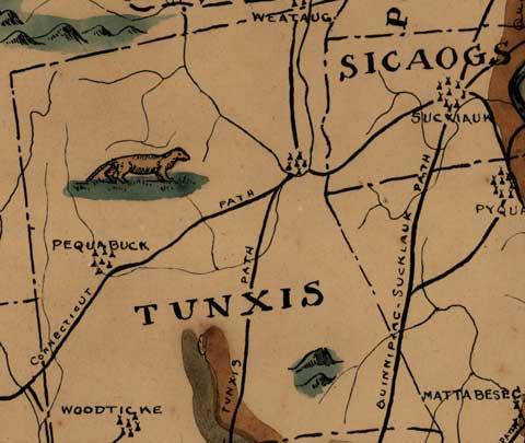 Connecticut Map - 1625