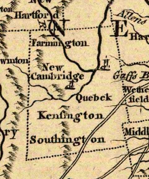 Connecticut Map - 1758