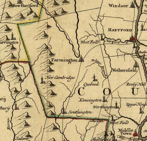Connecticut Map - 1780