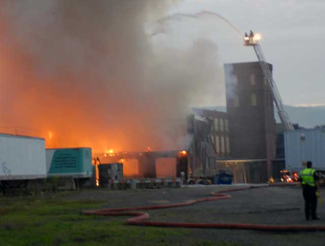 Hendey Machine Building Fire 2009